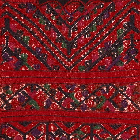 <p><i>Woman's Blouse</i>, or <i>Huipil</i>. Chinantec artist, circa 1942. Santa Cruz Tepetotutla, Oaxaca, Mexico. Cotton, wool, silk or rayon. Brooklyn Museum, Frank L. Babbott Fund, 42.235.48</p>
