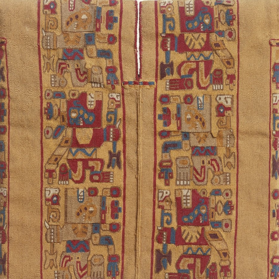 <p><i>Miniature Tunic</i>. Peru. <small>C.E.</small></p>    500–800. Cotton and camelid fiber. Brooklyn Museum, Gift of Mr. and Mrs. Alastair B. Martin, The Guennol Collection, 71.180