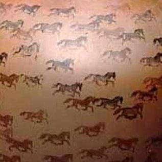 <p><i>Olla, Market Stampede</i>, 1990. Jody Folwell, Santa Clara (born 1942). Santa Clara Pueblo, New Mexico. Ceramic, slip. Brooklyn Museum, Lent by Eleanor Tulman Hancock, L1998.4</p>