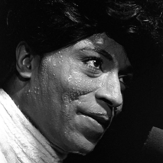 <p>Baron Wolman (American, born 1937). <i>Little Richard, Fillmore West</i>,<i> San Francisco</i>, October 19, 1969 (printed circa 1985). Gelatin silver print. Courtesy of Baron Wolman</p>