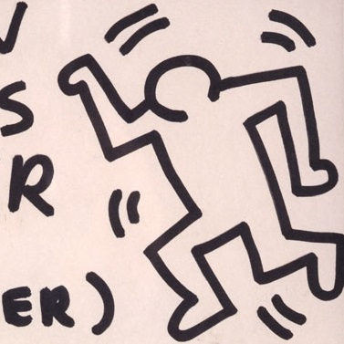 <p>Keith Haring (American, 1958–1990). <i>Untitled (Exhibition Continues 163 Mercer Street)</i>, 1982. Felt-tip pen on paper, 11<sup>1</sup>⁄<sub>2</sub> x 9 in. (29.5 &#215; 22.9 cm). Collection Keith Haring Foundation. © Keith Haring Foundation</p>