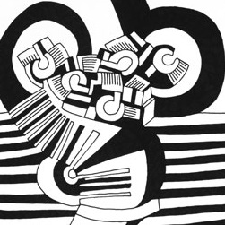 <p>Keith Haring (American, 1958&ndash;1990). <i>Untitled</i>, 1978. Various inks and pencils on paper, 8<sup>1</sup>&frasl;<sub>2</sub> x 11 in. (21.6 &times; 27.9 cm). Collection Keith Haring Foundation. &copy; Keith Haring Foundation</p>