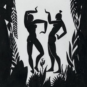 <p>Richard Bruce Nugent (American, 1906–1987). <i>Dancing Figures</i>, circa 1935. Black ink and graphite on cream wove paper, 14<sup>3</sup>⁄<sub>4</sub> x 10<sup>1</sup>⁄<sub>2</sub> in. (37.5 &#215; 26.7 cm). Brooklyn Museum, Gift of Dr. Thomas H. Wirth, gift of Frederick J. Adler, by exchange, bequest of Richard J. Kempe, by exchange, and gift of Abraham Walkowitz, by exchange, 2008.50.6. © Thomas H. Wirth</p>