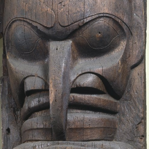 <p>Heiltsuk artist. <i>House Post</i>, from a Set of Four, 19th century. W&aacute;gl&iacute;sla, British Columbia, Canada. Cedar, 98 &times; 35<sup>1</sup>&frasl;<sub>4</sub> x 17<sup>1</sup>&frasl;<sub>2</sub> in. (248.9 &times; 89.5 &times; 44.5 cm). Brooklyn Museum, Museum Expedition 1911, Museum Collection Fund, 11.700.1</p>