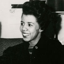 <p>Unknown photographer. Dramatist Lorraine Hansberry at the time of her play <i>A Raisin in the Sun</i> opening in New Haven, Connecticut, prior to its run on Broadway, 1959. Gelatin silver print. Photographs and Prints Division, Schomburg Center for Research in Black Culture, The New York Public Library, Astor, Lenox and Tilden Foundations. Courtesy of Estate of Jewell H. Gresham Nemiroff</p>