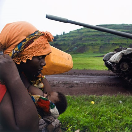 <p>Walter Astrada (Argentine, b. 1974). <em>Congolese women fleeing to Goma</em>, from the series <em>Violence Against Women in Congo, Rape as Weapon of War in DRC</em>, 2008. Chromogenic print (printed 2010), 16<sup>13</sup>&frasl;<sub>16</sub> x 24<sup>1</sup>&frasl;<sub>4</sub> in. (42.7 &times; 61.6 cm). The Museum of Fine Arts, Houston, museum purchase with funds provided by Photo Forum 2010. &copy; Walter Astrada</p>