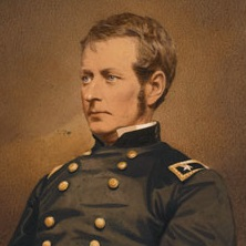 <p>Mathew B. Brady (American, 1823&ndash;1896). <em>Major-General Joseph Hooker</em>, circa 1863. Salted paper print, hand colored, 15<sup>15</sup>&frasl;<sub>16</sub> x 13<sup>1</sup>&frasl;<sub>8</sub> in. (40.5 &times; 33.3 cm). The Museum of Fine Arts, Houston, museum purchase with funds provided by the S. I. Morris Photography Endowment</p>