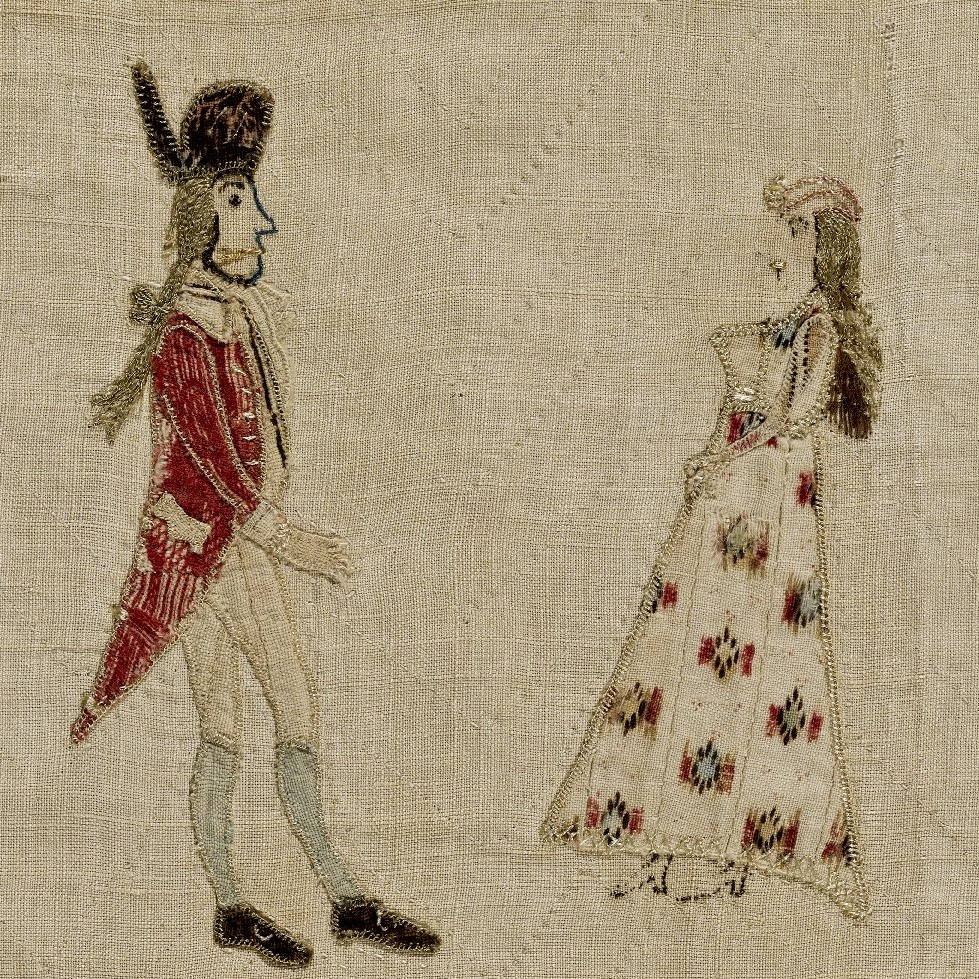 <p><i>Pictorial Quilt</i>, circa 1795. Linen, multicolored thread, 91 &times; 103<sup>1</sup>&frasl;<sub>4</sub> in. (231.1 &times; 262.3 cm). Brooklyn Museum, Dick S. Ramsay Fund, 41.285. Brooklyn Museum photograph. Photo by Gavin Ashworth, 2012</p>