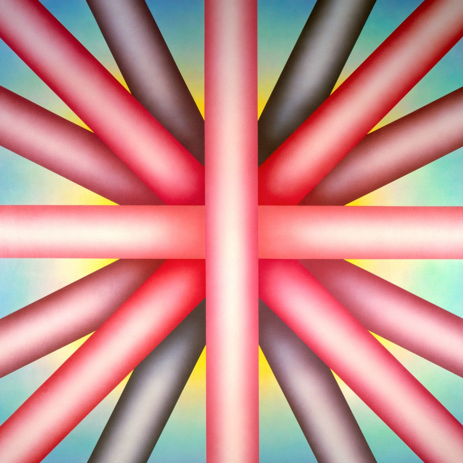 Judy Chicago (American, b. 1939). Heaven is for White Men Only, 1973. Sprayed acrylic on canvas, 80 × 80 in. (203.2 × 203.2 cm). New Orleans Museum of Art, Gift of the Frederick R. Weisman Art Foundation, 93.12. © Judy Chicago. Photo: © Donald Woodman