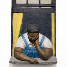 <p>John Ahearn (American, born 1951) with Rigoverto Torr&egrave;s (Puerto Rican, born 1980). <em>Titi in Window</em>, 1986&ndash;87. Oil on reinforced polyadam, 72 &times; 30 &times; 12 in. (182.9 &times; 76.2 &times; 30.5 cm). Brooklyn Museum, Gift of Cheryl and Henry Welt in memory of Abraham Joseph Welt, 87.194.1. &copy; John Ahearn. (Photo: Jonathan Dorado, Brooklyn Museum)</p>