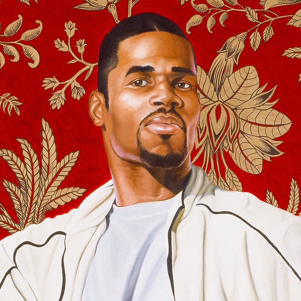 <p>Kehinde Wiley (American, b. 1977). <em>Willem van Heythuysen</em>, 2005. Oil and enamel on canvas, 96 &times; 72 in. (243.8 &times; 182.9 cm). Virginia Museum of Fine Arts, Richmond; Arthur and Margaret Glasgow Fund, 2006.14. &copy; Kehinde Wiley. (Photo: Katherine Wetzel, &copy; Virginia Museum of Fine Arts)</p>