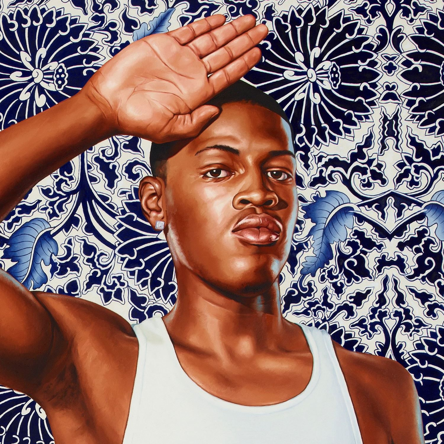 <p>Kehinde Wiley (American, b. 1977). <em>Two Heroic Sisters of the Grassland</em>, 2011. Oil on canvas, 96 &times; 84 in. (243.8 &times; 213.4 cm). Hort Family Collection. &copy; Kehinde Wiley. (Photo: Max Yawney)</p>