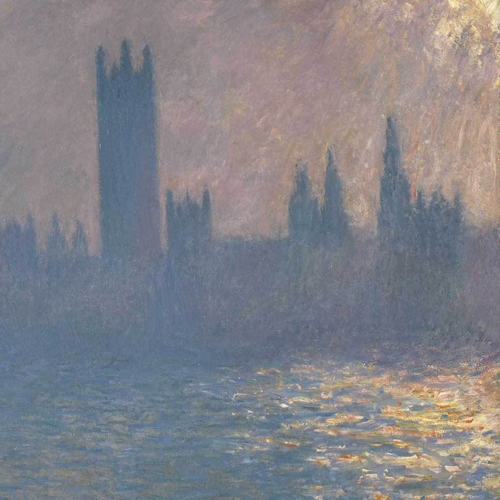 <p>Claude Monet (French, 1840&ndash;1926). <em>Houses of Parliament, Sunlight Effect (Le Parlement, effet de soleil)</em>, 1903. Oil on canvas, 32 &times; 36<sup>1</sup>&frasl;<sub>4</sub> in. (81.3 &times; 92.1 cm). Brooklyn Museum, Bequest of Grace Underwood Barton, 68.48.1</p>