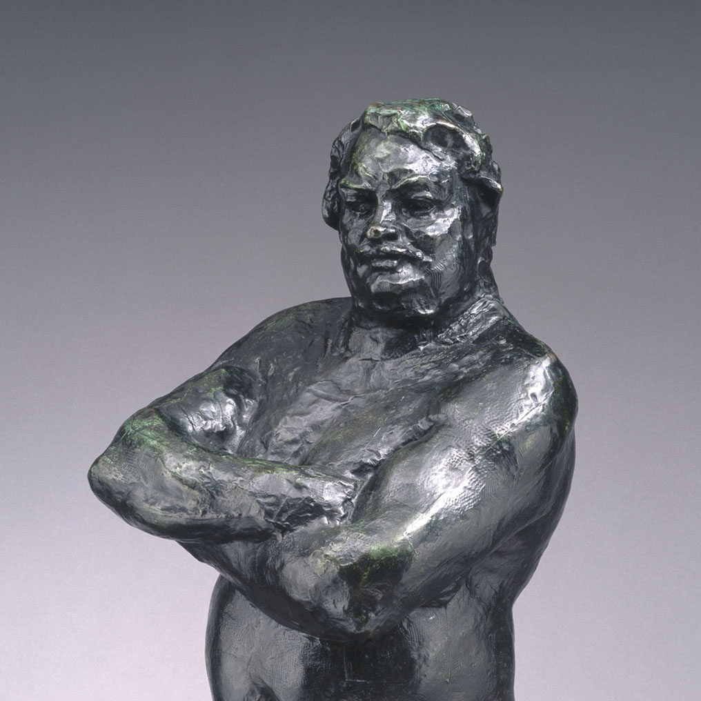<p>Auguste Rodin (French, 1840&ndash;1917). <em>Balzac, Nude Study C, Large Version (Balzac, &eacute;tude de nu, grand mod&egrave;le)</em>, 1892&ndash;1893; cast 1972. Bronze, 49<sup>7</sup>&frasl;<sub>8</sub> x 19<sup>1</sup>&frasl;<sub>4</sub> x 26<sup>1</sup>&frasl;<sub>2</sub> in., 148 lb. (126.7 x 48.9 x 67.3 cm). Brooklyn Museum, Gift of the Iris and B. Gerald Cantor Foundation, 85.198</p>