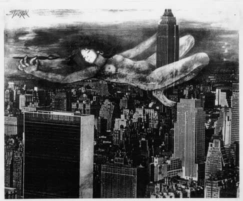 <p>Giant Woman On Empire State</p>