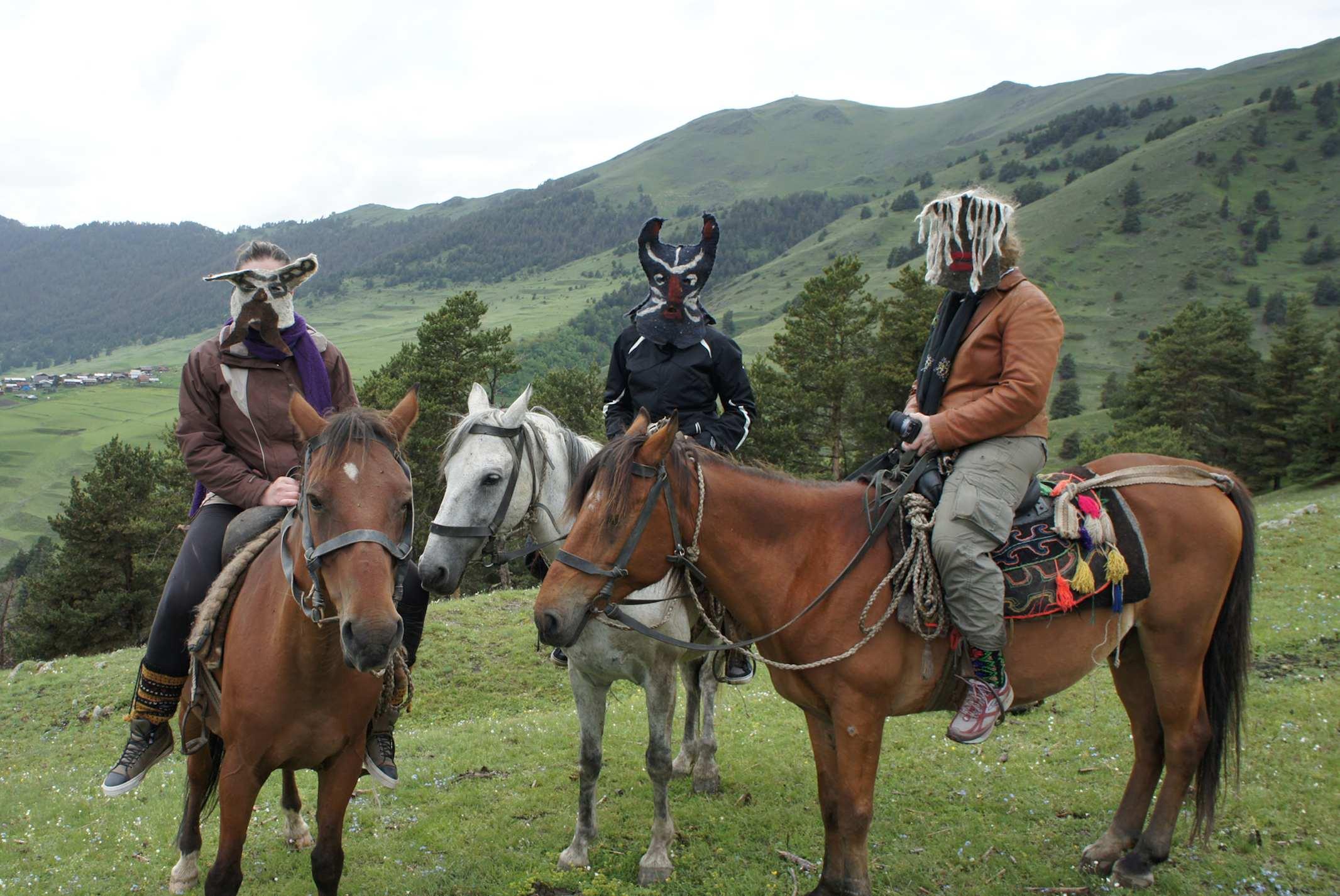 <p>Berikaoba masks, Border of Daghestan</p>