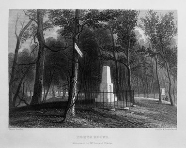 "<em>""Poets Mound. Monument to McDonarld Clarke.  James Smillie. Smillie & Hinshelwood.""</em>, 1847. Bw negative 4x5in. Brooklyn Museum. (F129_B79_G85c_opposite_p13_bw.jpg"