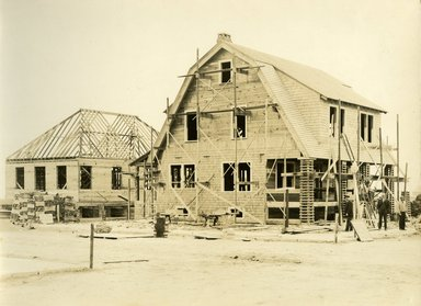 "<em>""Beach Haven: the great seashore opportunity. Views of Beach Haven. View 13: house(s) under construction.""</em>, 1900-1914. Bw photograph (original print), 9 x 7in (23 x 18cm). Brooklyn Museum, Beachhaven. (F142_O2_B35_Beachhaven_011.jpg"