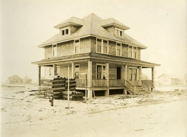 "<em>""Beach Haven: the great seashore opportunity. Views of Beach Haven. View 14: house, Belvoir Ave. and Atlantic Ave.""</em>, 1900-1914. Bw photograph (original print), 9 x 7in (23 x 18cm). Brooklyn Museum, Beachhaven. (F142_O2_B35_Beachhaven_012.jpg"