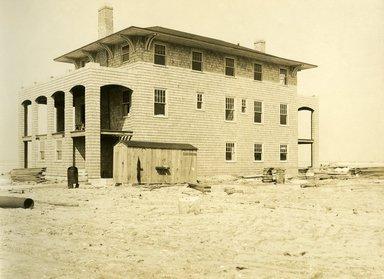 "<em>""Beach Haven: the great seashore opportunity. Views of Beach Haven. View 18: house(s) under construction.""</em>, 1900-1914. Bw photograph (original print), 9 x 7in (23 x 18cm). Brooklyn Museum, Beachhaven. (F142_O2_B35_Beachhaven_016.jpg"