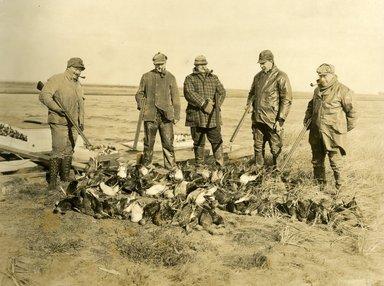 "<em>""Beach Haven: the great seashore opportunity. Views of Beach Haven. View 21: duck hunters.""</em>, 1900-1914. Bw photograph (original print), 9 x 7in (23 x 18cm). Brooklyn Museum, Beachhaven. (F142_O2_B35_Beachhaven_019.jpg"