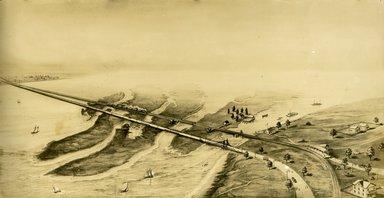 "<em>""Beach Haven: the great seashore opportunity. Views of Beach Haven. View 41: aerial view; artist's rendition.""</em>, 1900-1914. Bw photograph (original print), 9 x 7in (23 x 18cm). Brooklyn Museum, Beachhaven. (F142_O2_B35_Beachhaven_039.jpg"