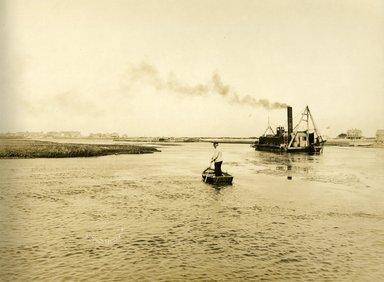 "<em>""Beach Haven: the great seashore opportunity. Views of Beach Haven. View 46: boats.""</em>, 1900-1914. Bw photograph (original print), 9 x 7in (23 x 18cm). Brooklyn Museum, Beachhaven. (F142_O2_B35_Beachhaven_044.jpg"