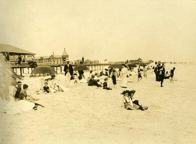"<em>""Beach Haven: the great seashore opportunity. Views of Beach Haven. View 50: beach view, showing Engleside hotel.""</em>, 1900-1914. Bw photograph (original print), 9 x 7in (23 x 18cm). Brooklyn Museum, Beachhaven. (F142_O2_B35_Beachhaven_048.jpg"