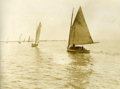 "<em>""Beach Haven: the great seashore opportunity. Views of Beach Haven. View 56: sailboats.""</em>, 1900-1914. Bw photograph (original print), 9 x 7in (23 x 18cm). Brooklyn Museum, Beachhaven. (F142_O2_B35_Beachhaven_054.jpg"