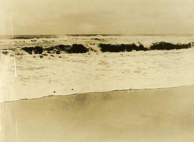 "<em>""Beach Haven: the great seashore opportunity. Views of Beach Haven. View 58: waves at seashore.""</em>, 1900-1914. Bw photograph (original print), 9 x 7in (23 x 18cm). Brooklyn Museum, Beachhaven. (F142_O2_B35_Beachhaven_056.jpg"
