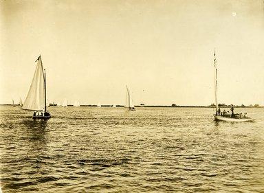"<em>""Beach Haven: the great seashore opportunity. Views of Beach Haven. View 59: sailboats.""</em>, 1900-1914. Bw photograph (original print), 9 x 7in (23 x 18cm). Brooklyn Museum, Beachhaven. (F142_O2_B35_Beachhaven_057.jpg"