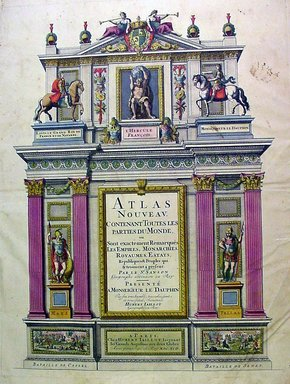 "<em>""Nicolas Sanson. Atlas nouveau, 1692. Frontipiece.""</em>, 1692. Printed material. Brooklyn Museum. (G1015_Sa5_Sanson_Atlas_frontispiece.jpg"