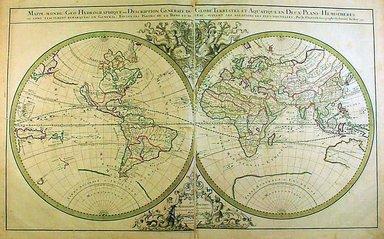 "<em>""Nicolas Sanson. Atlas nouveau, 1692. Mappe Monde Geo-Hydrographique.""</em>, 1692. Printed material. Brooklyn Museum. (G1015_Sa5_Sanson_Atlas_map1.jpg"