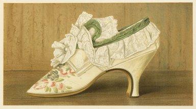 "<em>""Miss Langley's Shoe.""</em>, 1885. Printed material. Brooklyn Museum. (Photo: Brooklyn Museum, GT2130_G7_Greig_1885_pl02_PS4.jpg"