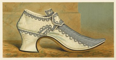 "<em>""Countess of Portsmouth's Shoe""</em>, 1885. Printed material. Brooklyn Museum. (Photo: Brooklyn Museum, GT2130_G7_Greig_1885_pl03_PS4.jpg"