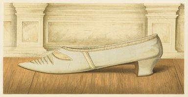 "<em>""Shoe of Lilias. Daughter of the 12th Earl of Eglinton.""</em>, 1885. Printed material. Brooklyn Museum. (Photo: Brooklyn Museum, GT2130_G7_Greig_1885_pl05_PS4.jpg"