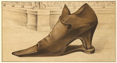 "<em>""Marie of Lorraine's Shoe""</em>, 1885. Printed material. Brooklyn Museum. (Photo: Brooklyn Museum, GT2130_G7_Greig_1885_pl13_PS4.jpg"