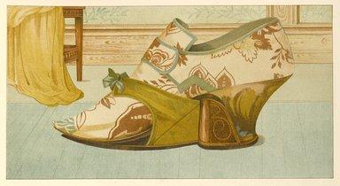 "<em>""Shoe, with Patten""</em>, 1885. Printed material. Brooklyn Museum. (Photo: Brooklyn Museum, GT2130_G7_Greig_1885_pl14_PS4.jpg"