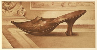 "<em>""Marie of Lorraine's Slipper""</em>, 1885. Printed material. Brooklyn Museum. (Photo: Brooklyn Museum, GT2130_G7_Greig_1885_pl15_PS4.jpg"