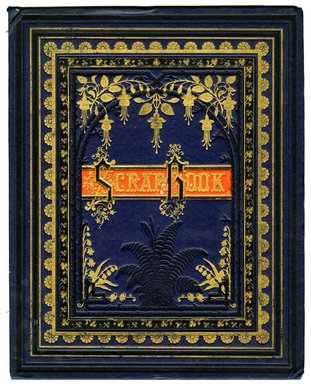 "<em>""Tradecard scrapbook cover.""</em>. Printed material, 15 x 12 in (38.2 x 30.5 cm). Brooklyn Museum, CHART_2011. (HF5841_Ad9_cover.jpg"