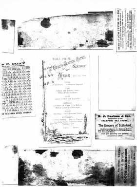 "<em>""Photocopy of set of 10 tradecards mounted on cardstock. Verso.""</em>. Printed material, 15 x 11.5 in (38 x 29.3 cm). Brooklyn Museum, CHART_2011. (HF5841_Ad9_p14_verso_photocopy.jpg"