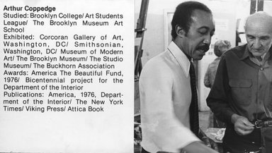 "<em>""Brooklyn Museum Art School faculty. Arthur Coppedge, ca. 1979.""</em>, 1979. Bw photographic print. Brooklyn Museum, Art School. (Photo: Brooklyn Museum, MAS_Vfacultyi004.jpg"