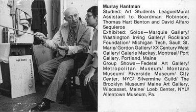 "<em>""Brooklyn Museum Art School faculty. Murray Hantman, ca. 1979.""</em>, 1979. Bw photographic print. Brooklyn Museum, Art School. (Photo: Brooklyn Museum, MAS_Vfacultyi005.jpg"
