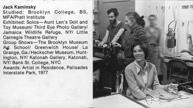 "<em>""Brooklyn Museum Art School faculty. Jack Kaminsky, ca. 1979.""</em>, 1979. Bw photographic print. Brooklyn Museum, Art School. (Photo: Brooklyn Museum, MAS_Vfacultyi006.jpg"