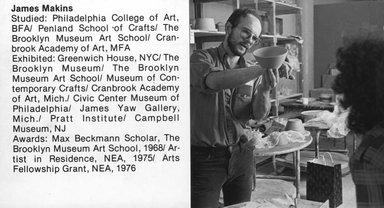 "<em>""Brooklyn Museum Art School faculty. James Makins, ca. 1979.""</em>, 1979. Bw photographic print. Brooklyn Museum, Art School. (Photo: Brooklyn Museum, MAS_Vfacultyi007.jpg"