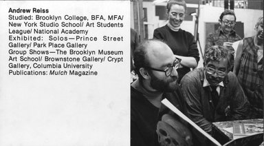 "<em>""Brooklyn Museum Art School faculty. Andrew Reiss, ca. 1979.""</em>, 1979. Bw photographic print. Brooklyn Museum, Art School. (Photo: Brooklyn Museum, MAS_Vfacultyi009.jpg"