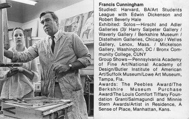 """<em>""""Brooklyn Museum Art School faculty. Francis Cunningham ca. 1979.""""</em>, 1979. Bw photographic print. Brooklyn Museum, Art School. (Photo: Brooklyn Museum, MAS_Vfacultyi013.jpg"""