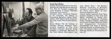 "<em>""Brooklyn Museum Art School faculty. Daniel Serra-Badue, ca 1979.""</em>, 1979. Bw photographic print. Brooklyn Museum, Art School. (Photo: Brooklyn Museum, MAS_Vfacultyi014_SL1.jpg"