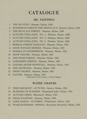 """<em>""""Checklist.""""</em>, 1922. Printed material. Brooklyn Museum, NYARC Documenting the Gilded Age phase 2. (Photo: New York Art Resources Consortium, N200_Sp8_St4_0011.jpg"""