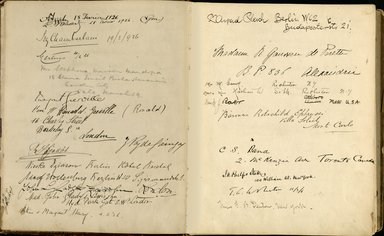 "<em>""Maurice Nahman visitor book (1918-1977). Signature page.""</em>. Manuscript. Brooklyn Museum. (Photo: Brooklyn Museum, N362_N14_Nahman_visitor_book_p09-10.jpg"